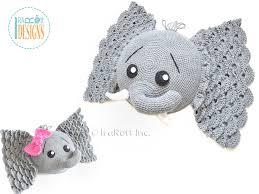 Elephant Pattern Beauteous Josefina And Jeffery Elephant Pillow PDF Crochet Pattern IraRott Inc
