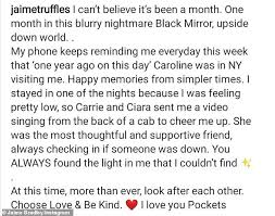 Caroline Flack's friend Jaime Bradley says life has been a 'nightmare' one  month on from her death | Daily Mail Online