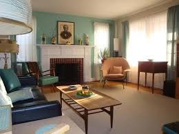 turquoise mid century living room
