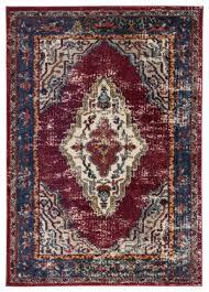 famous maker amazi jana amz 1120 maroon blue area rug