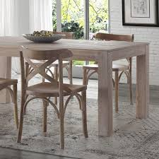 solid wood dining table. Montauk Solid Wood Dining Table - Driftwood Grain Furniture 2 L
