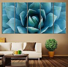 com ezon ch large wall art blue agave canvas prints agave flower large art canvas printing extra large canvas wall art print 60 inch total posters