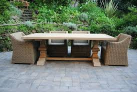 full size of large round teak outdoor dining table and chairs paradise announces its collection reclaimed