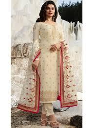 Best Designer Salwar Suits Online Prachi Desai Off White Straight Salwar Suit Party Wear