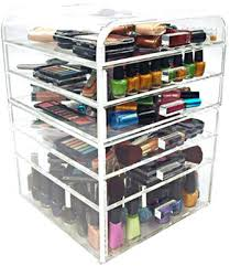 clear acrylic makeup organizer with drawers variation med size clear acrylic makeup organizer over acrylic clear