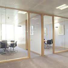 Wooden Office Partitions Removable Partition Wooden Tempo Glass Wood
