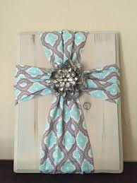 fabric cross on wood super simple and easy to make fabric is with regard on diy fabric cross wall art with showing photos of diy fabric cross wall art view 2 of 15 photos