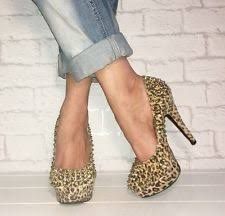 office leopard print. OFFICE Leopard Print Studded Spiked Closed Toe Platform High Heels Courts Size 5 Office G
