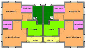 two bedroom semi detached house plan building designs two one y two full