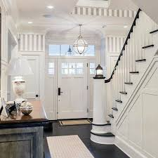awesome traditional home painted white wood stair railing ideas