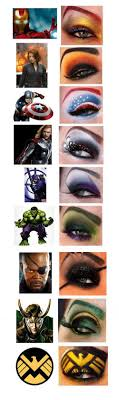 avenger eye makeup i wouldn t do it but its cool for for people