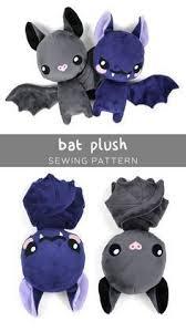free plush bat pdf pattern to so cute