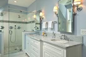 wall lights shower wall lights vanity light bar bathroom traditional with double mirrors and tile