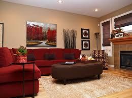 red living rooms design ideas