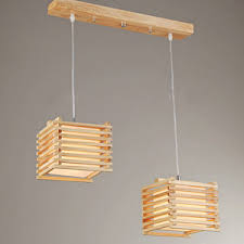 wood pendant lighting. Natural Wooden Pendant Lights With Two-light Wood Lighting