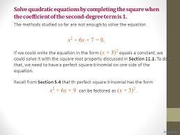 3 solve quadratic