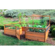 pictures of raised gardens 15 cedar complete raised garden bed kit