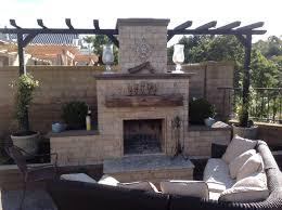 amazing backyard fireplace with travertine veneered diy outdoor fireplace with planterantel of backyard