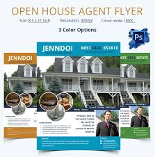 open house flyer psd format open house agent flyer template