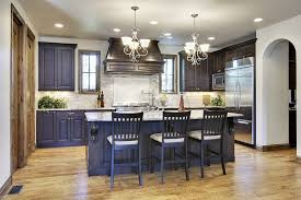 Kitchen:Real Open Home Kitchen Ideas With Black Cabients Colors Also  Granite Countertops Renovation Ideas