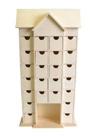 24 drawer house shaped advent calendar with inner box frame to decorate craft ideas s craftmill