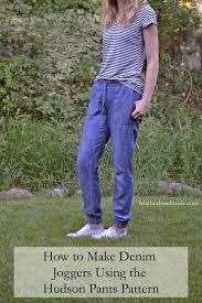 Make Pants How To Make Denim Joggers Using The Hudson Pants Pattern
