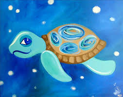 how to paint sammy the sea turtle all ages