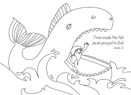 Free Bible Coloring Page Jonah
