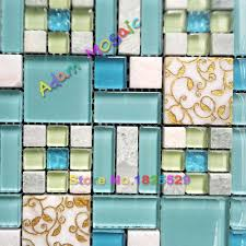 Blue Tiles For Kitchen Blue Glass Tiles For Kitchen Backsplash Enchanting Kitchen With