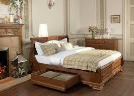 super kingsize wooden sleigh bed