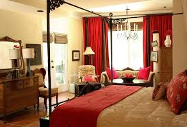 Red Bedroom Curtains Awesome Red Grey Glass Wood Luxury Design Curtain Ideas For