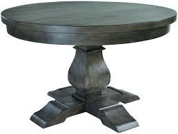 willow dark reclaimed wood round dining table 130cm