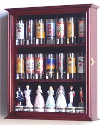 tall shot glass shooter display case cabinet rack shotglass holder
