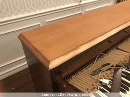 different types of wood furniture. Spinet Piano Lid With Two Different Types Of Wood Furniture D