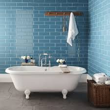 Blue Tiled Bathrooms Images Of Bathrooms With White Brick Walls Topps Tiles Launch