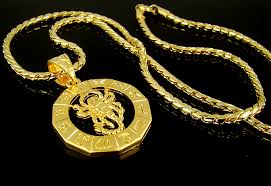 high q 18k gold plated mens scorpion hiphop pendant necklace street fashion 35