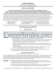 Sample Accounting Resume Objective Staff Accountant Resume Emelcotest Com