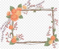 Paper Flower Frame Paper Flower Pattern Flower Frame Png Download 1273 1024 Free