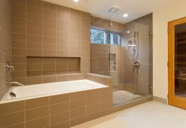 ceramic tile designs for bathrooms. Shower Tub Tile Ideas Door Closed Calm Wall Paint Home Depot Porcelain Lighting Fixture White Bathtub On Beige Ceramic Cream Designs For Bathrooms