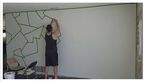 Paint Patterns Simple How To Paint ALMOST PERFECT Line Patterns On Your Wall EASY