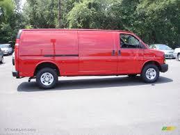 Victory Red 2011 Chevrolet Express 3500 Cargo Van Exterior Photo ...