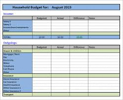 sample household budget sample household budget 10 documents in pdf word