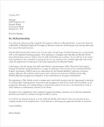 Unit Clerk Cover Letter Internship Cover Letter Sample 9 Examples In Word Pdf
