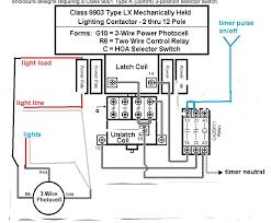 lighting contactor wiring diagram with photocell how to wire a contactor for a 3 phase motor at Contactors Wiring Diagram