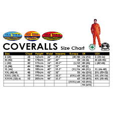 Frc Coverall Size Chart Seaview 100 Cotton Zip Khaki Coverall Size S 4xl Durasafe Shop