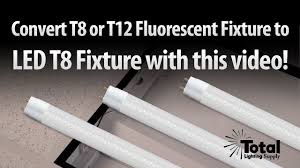 Fluorescent Light Tombstones Convert T8 T12 Fluorescent Tube Light To Single End Powered Led T8 Tubes By Total Lighting Supply