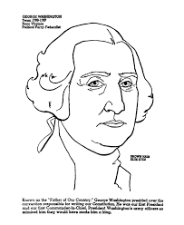 Small Picture USA Printables President George Washington US Presidents