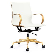 modern office chair. Call To Order · Malone Gold + White Modern Office Chair