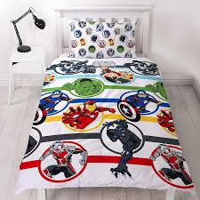 marvel avengers strong single duvet cover set front