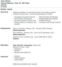 Resume Examples Retail Sales Associate - Fast.lunchrock.co